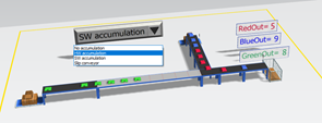 Driving at an intersection with different types of conveyors